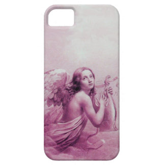 ANGEL PLAYING LYRA OVER THE CLOUDS pink iPhone 5 Covers