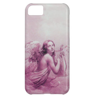 ANGEL PLAYING LYRA OVER THE CLOUDS pink iPhone 5C Case