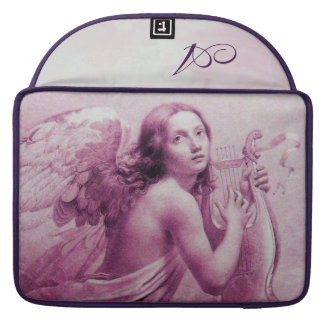ANGEL PLAYING LYRA OVER THE CLOUDS pink MacBook Pro Sleeve