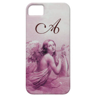 ANGEL PLAYING LYRA OVER THE CLOUDS pink monogram iPhone 5 Case