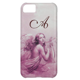 ANGEL PLAYING LYRA OVER THE CLOUDS pink monogram iPhone 5C Case
