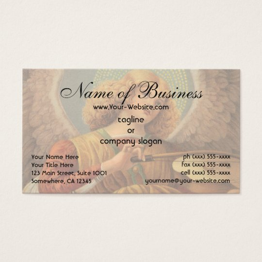 Angel Playing the Violin by Melozzo da Forlì Business Card