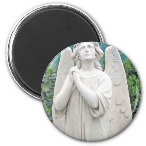Angel pleading with the sky fridge magnets