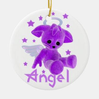 Angel Plush by Ricaso Graphics Ceramic Ornament