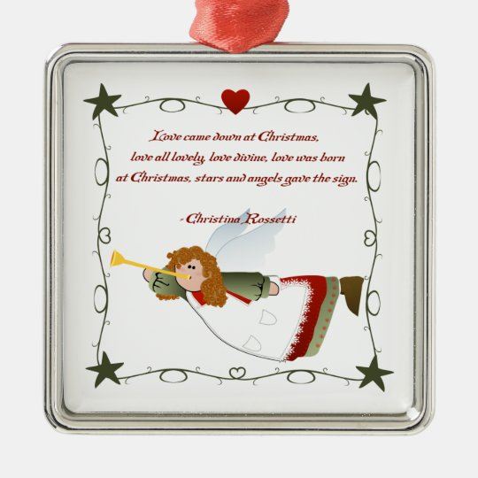 Angel Poem Christmas Ornament Zazzle Com
