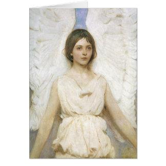Ángel por navidad del Victorian del vintage de Abb Tarjeton