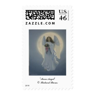 Moon Angel Stamp