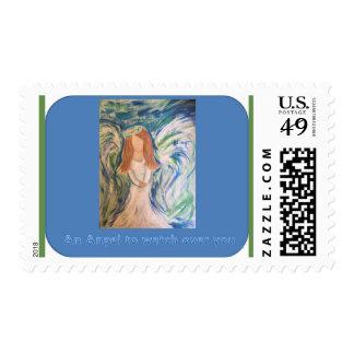 Angel postcard postage