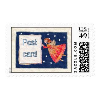angel Postcard Postage Stamp