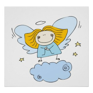 Angel poster print