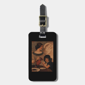 Angel Pouring Hot Chocolate for Child Luggage Tag