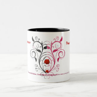 angel, Prayer is the answer, Prayer is the answer Two-Tone Coffee Mug