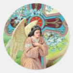 Angel Prayer Round Sticker