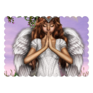 Angel Prayers 5x7 Paper Invitation Card