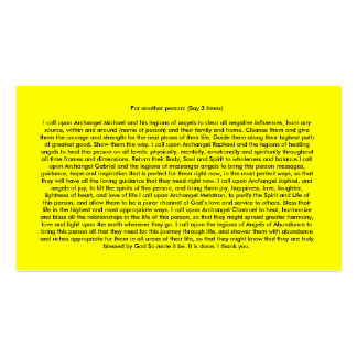 Angel Prayers Double-Sided Standard Business Cards (Pack Of 100)