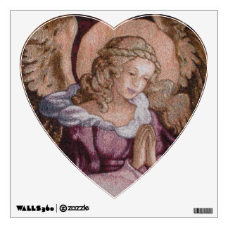 ANGEL PRAYING HEART SHAPED WALL DECOR