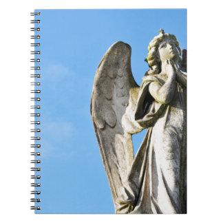 Angel praying notebook