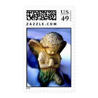 Angel Praying Postage Stamp