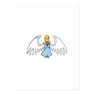 ANGEL PRAYING POSTCARD