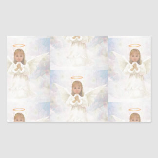 Angel Praying Rectangular Sticker