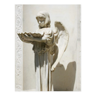 angel praying Savannah Georgia Postcard