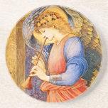 Angel Pre-Raphaelite Christmas Coasters