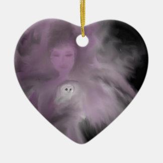 Ángel precioso del búho ornamento para arbol de navidad