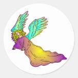 Ángel protector pegatina