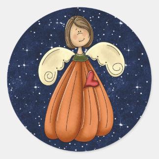 Angel Pumpkin Fall Stickers