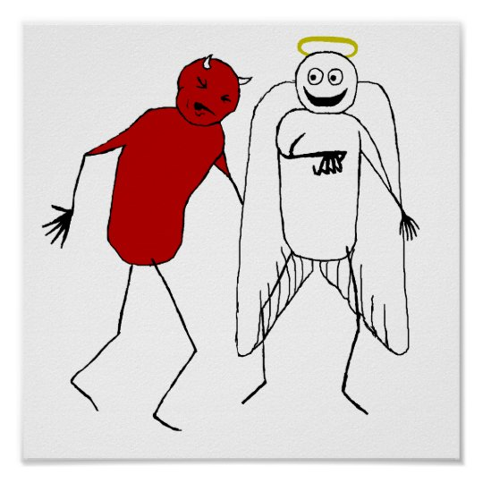Angel Punching Devil Poster