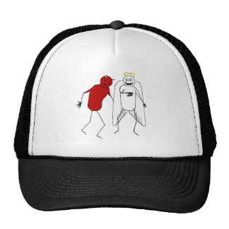 Angel Punching Devil Trucker Hat