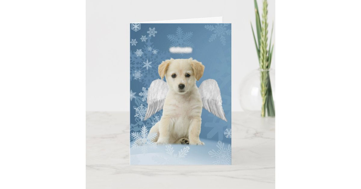 Angel Puppy Christmas Cards | Zazzle.com