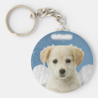 Angel Puppy Christmas Keychain