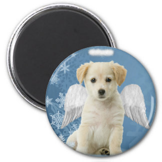 Angel Puppy Christmas Magnet