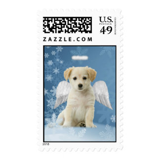 Angel Puppy Postage Stamps