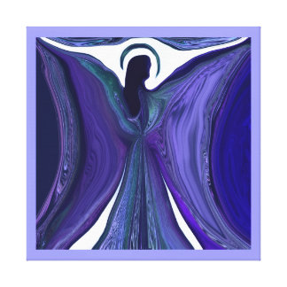 Ángel púrpura del amor impresion en lona