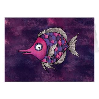 Ángel púrpura tarjeta