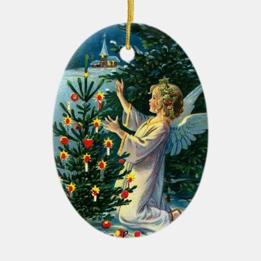 Ángel que adorna el árbol de navidad 2 ornato