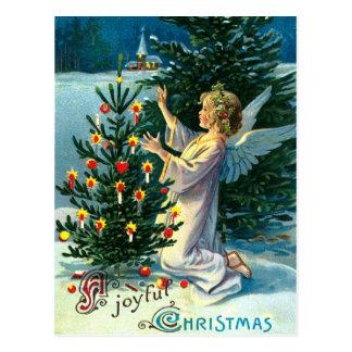 Ángel que adorna el árbol de navidad 2 postales