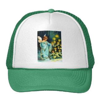 Ángel que adorna el árbol de navidad gorra