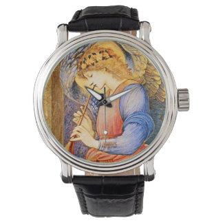Ángel que juega el reloj de Raphaelite de la