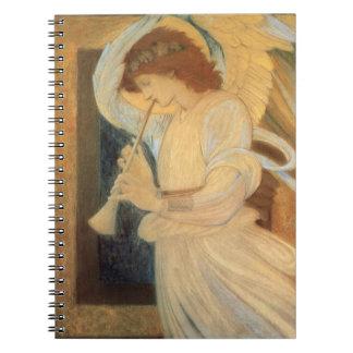 Ángel que juega la chirimia Burne Jones, música Note Book