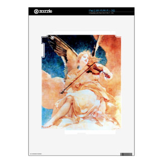 Ángel que juega la pintura del violín calcomanías para iPad 2