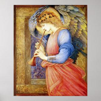 Ángel que juega una impresión del poster de Burne-
