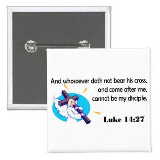Ángel que lleva diseño cristiano cruzado pin