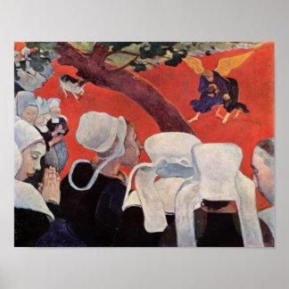Ángel que lucha con Jacob, Paul Gauguin Póster