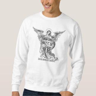 Ángel que sostiene el escudo de armas franciscano sudaderas encapuchadas