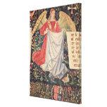 Ángel que sostiene la cubierta impresión en lona estirada