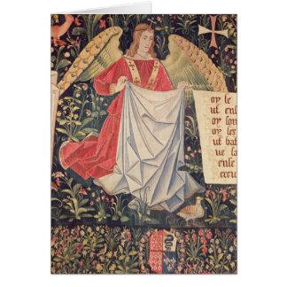 Ángel que sostiene la cubierta tarjeton