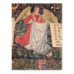 Ángel que sostiene la cubierta tarjeta postal
